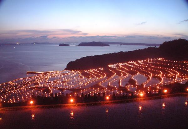 土谷棚田火祭り